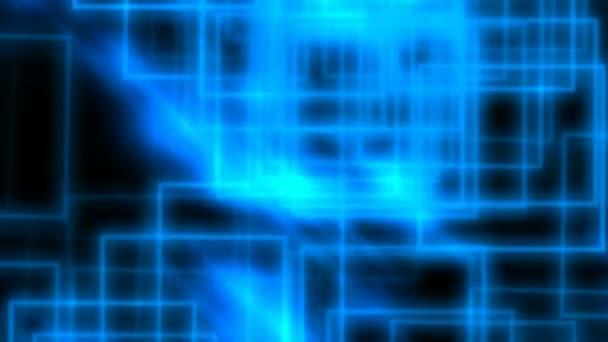 abstraktní modré obdélníky