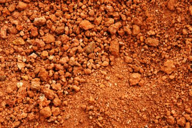 Red earth or soil background