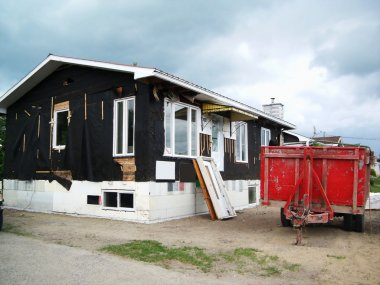 House siding removal