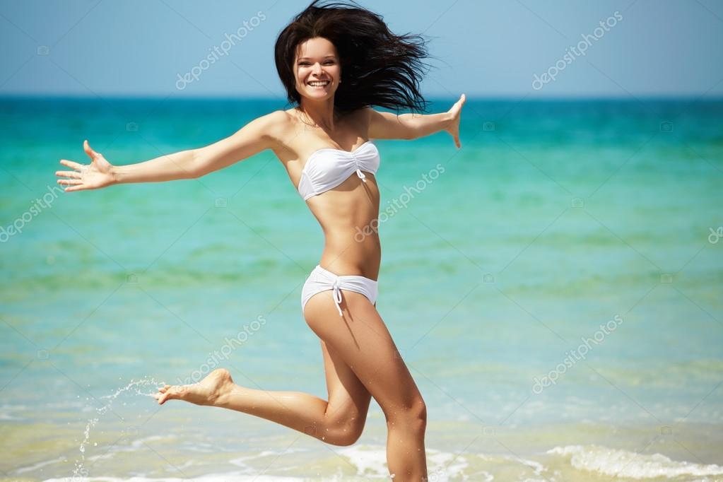 Young girl beach bikini sports online butal