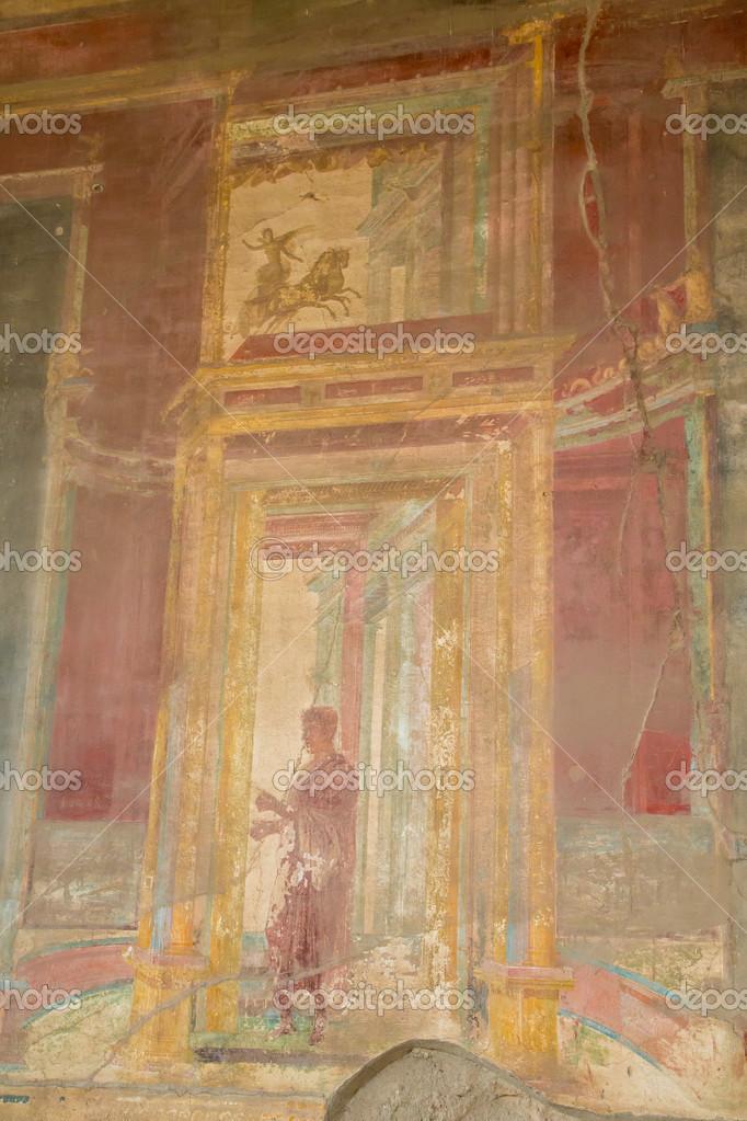 Ancienne Peinture Murale De Pompéi Photographie Dbvirago