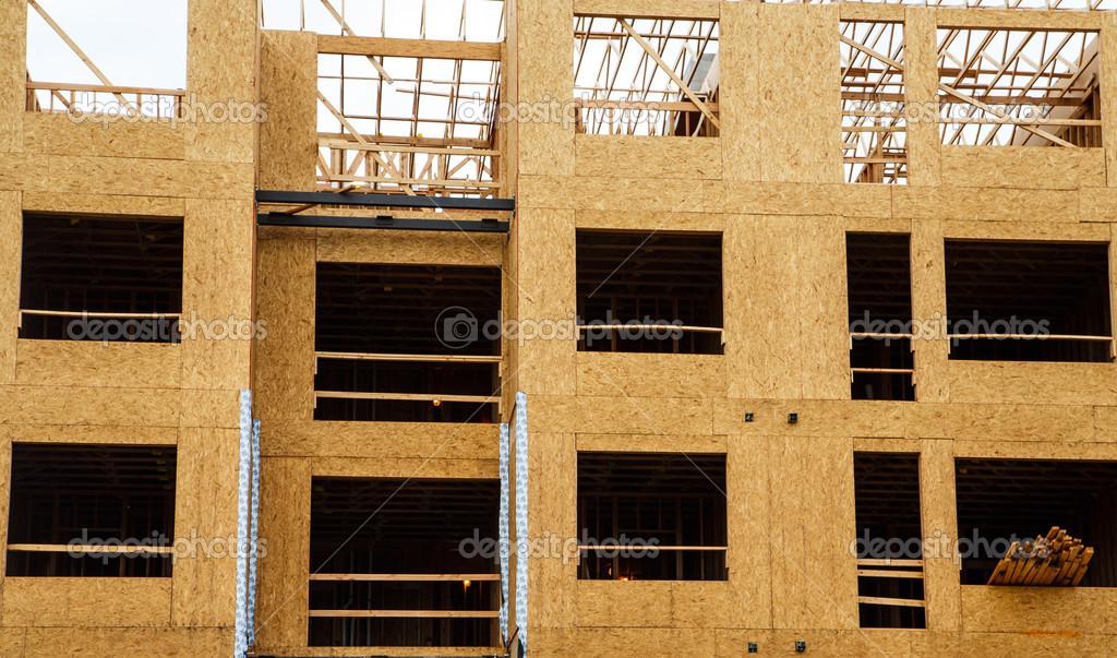 con marcos de madera contrachapada — Foto de stock © dbvirago #47248713