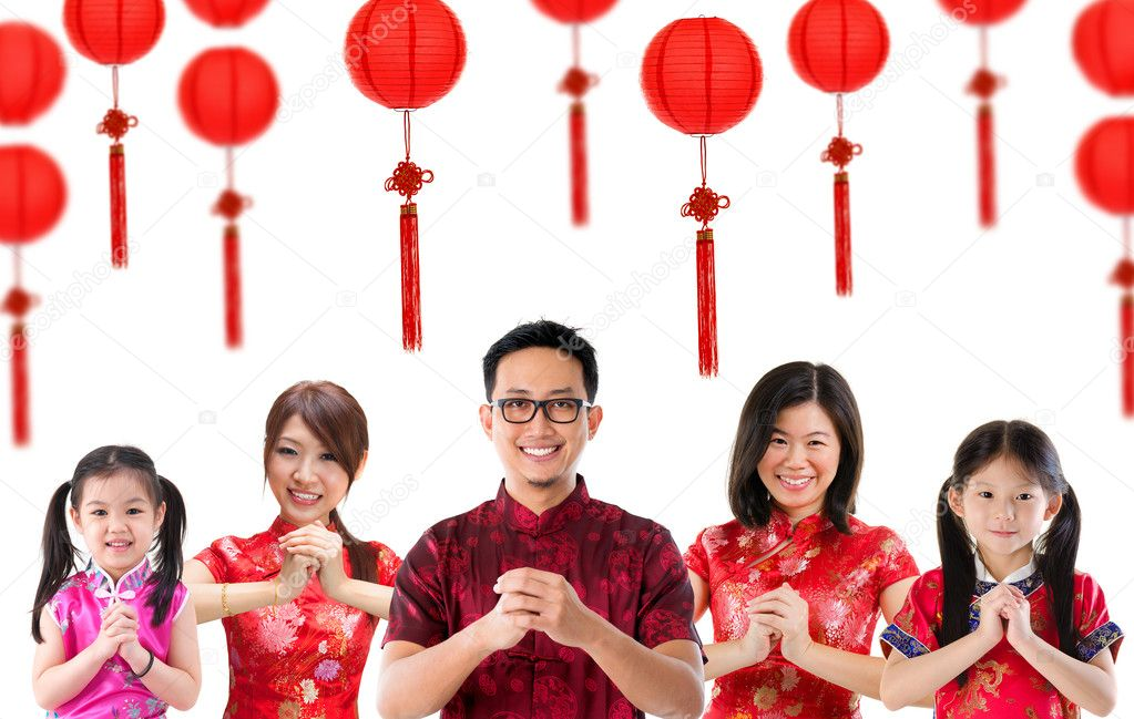 Group of Chinese greeting