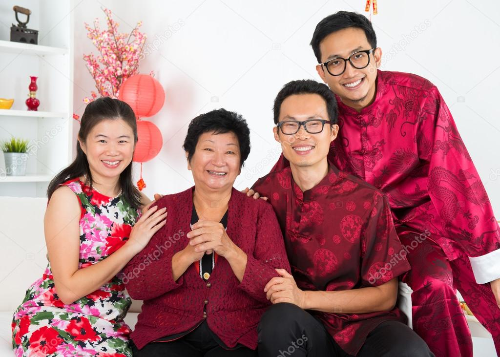 Asian family reunion.