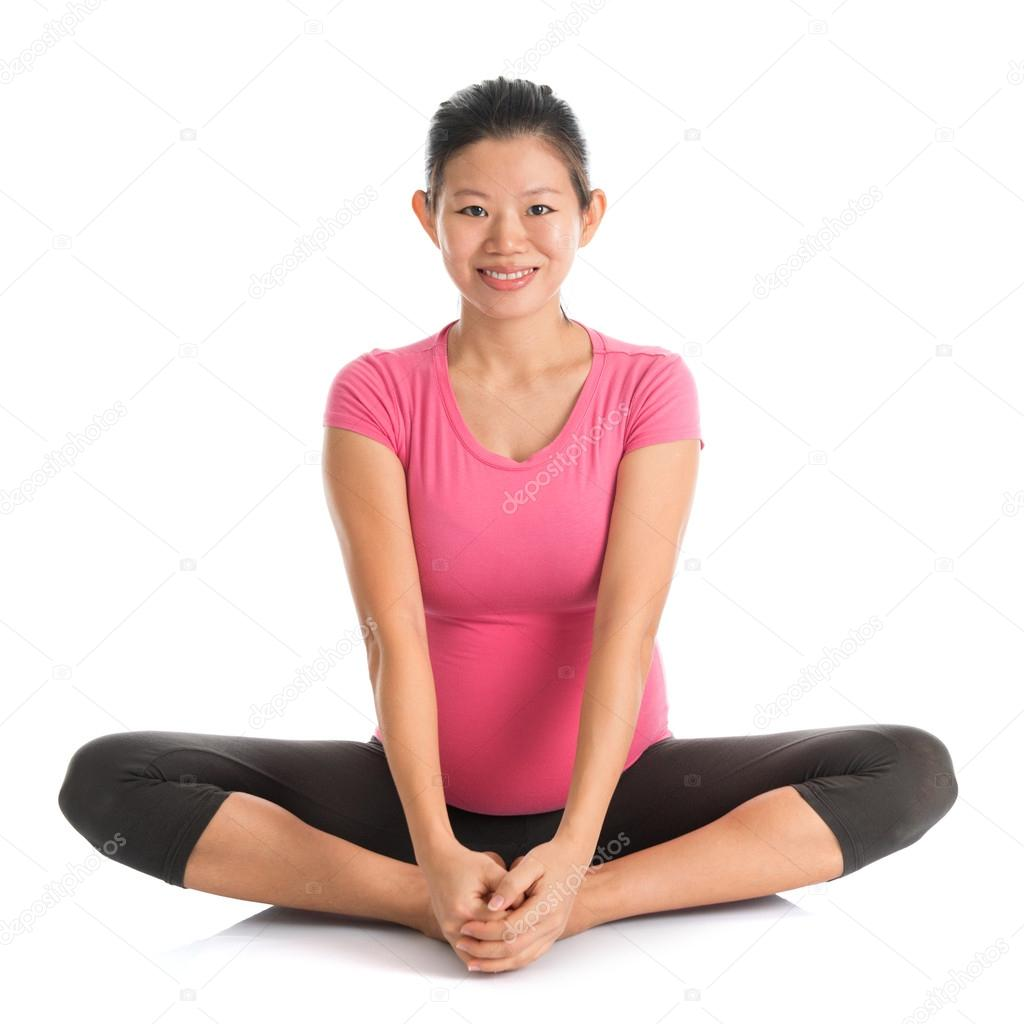 Butterfly Position In Pregnancy Pregnant yoga b...