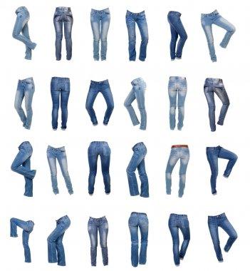 Jeans for women collage