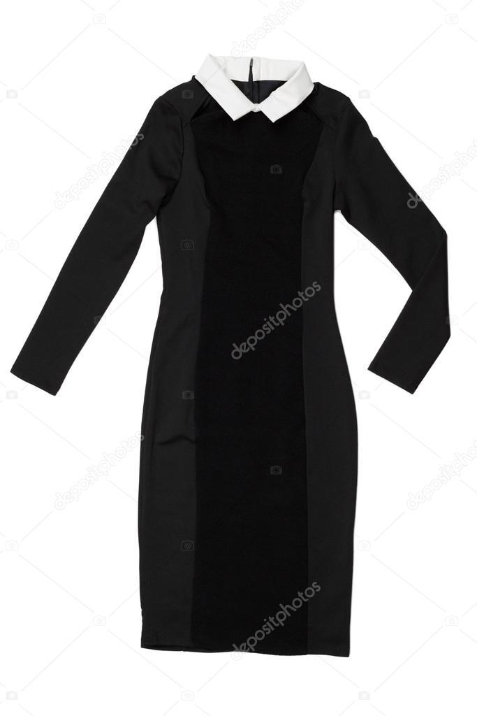 super popular 45813 d63a3 Abito nero con colletto bianco — Foto Stock © Ruslan #41726751