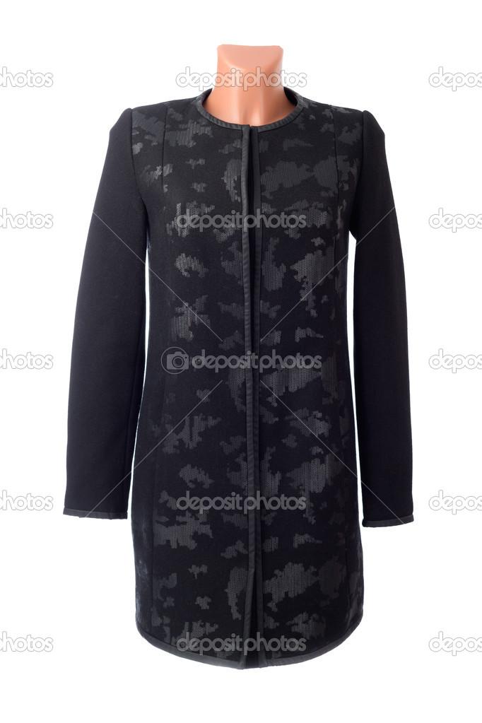 da5d95aa3 Stylové dámské kabáty černé — Stock Fotografie © Ruslan #41726777