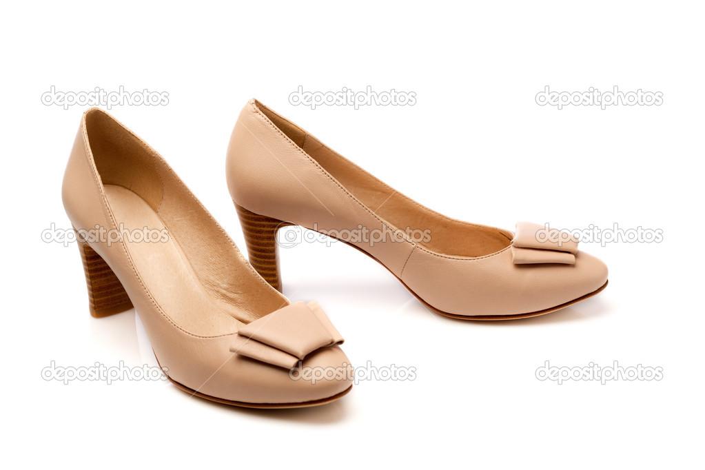 eb731686e sapatos femininos bege — Fotografias de Stock © Ruslan  45703973