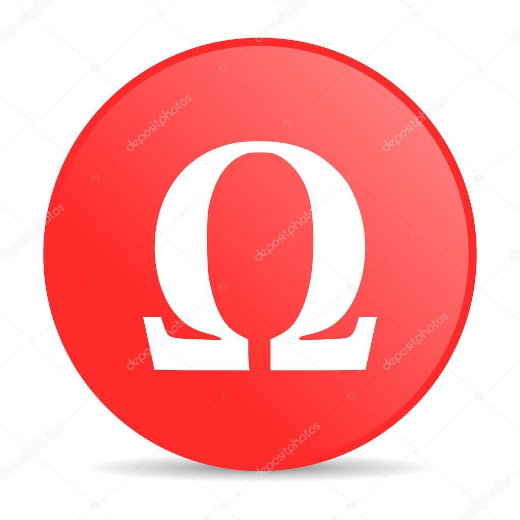 Omega red circle web glossy icon stock photo alexwhite 24232875 omega red circle web glossy icon stock photo buycottarizona