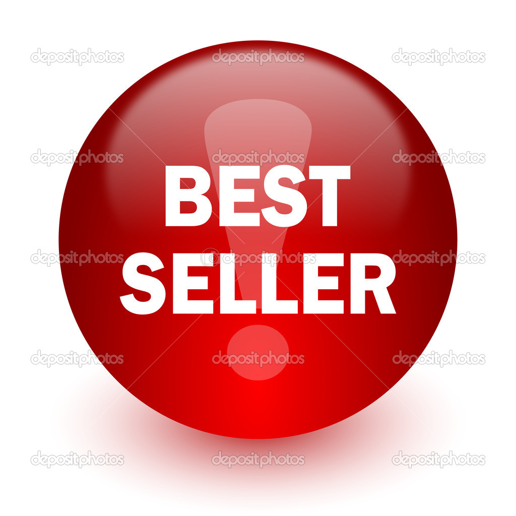 Best seller red computer icon on white background stock for Best seller