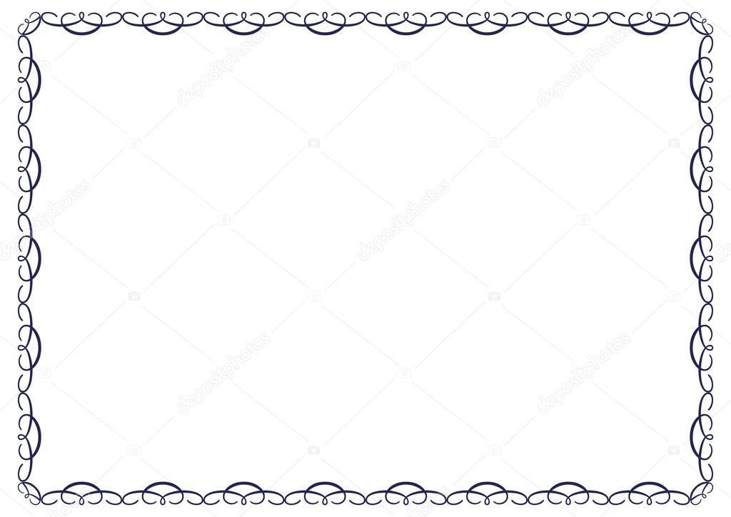 marco de diploma — Archivo Imágenes Vectoriales © justaa #40136749