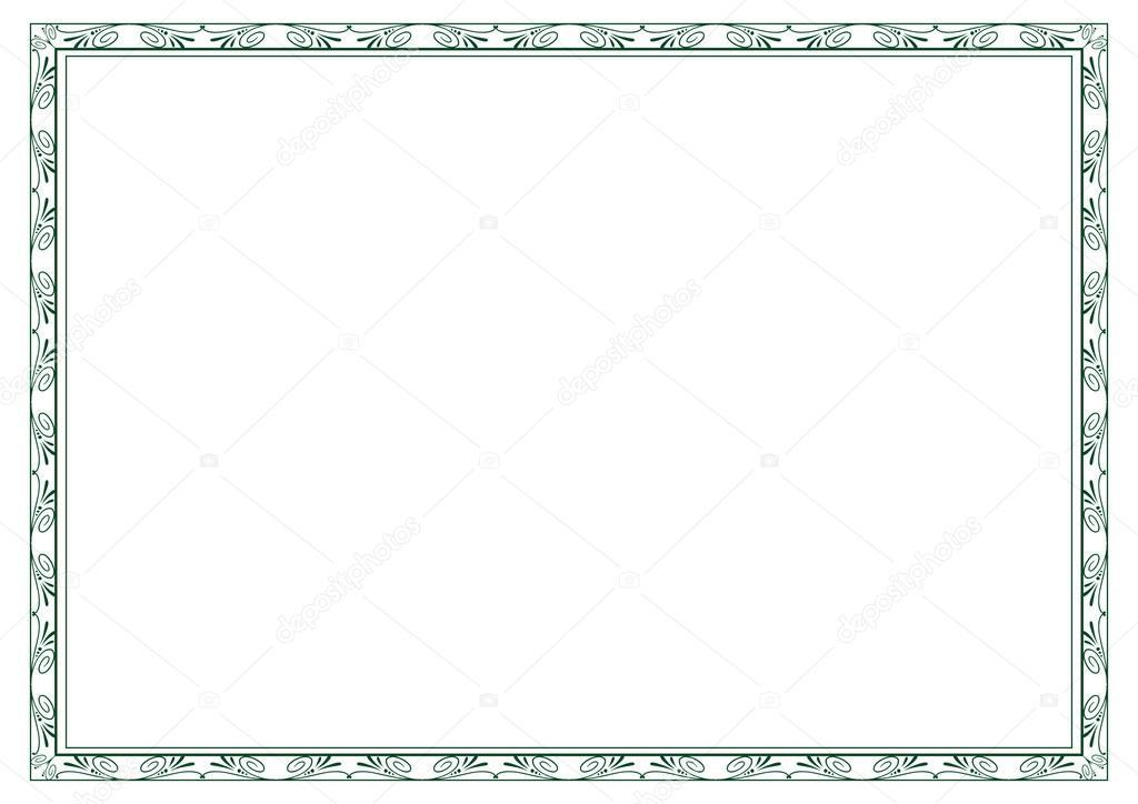 Diploma frame — Stock Vector © justaa #40136777