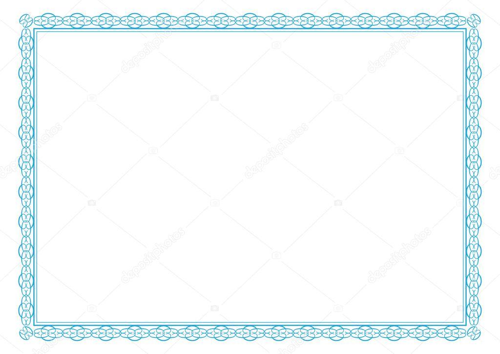 marco de diploma — Vector de stock © justaa #40136807