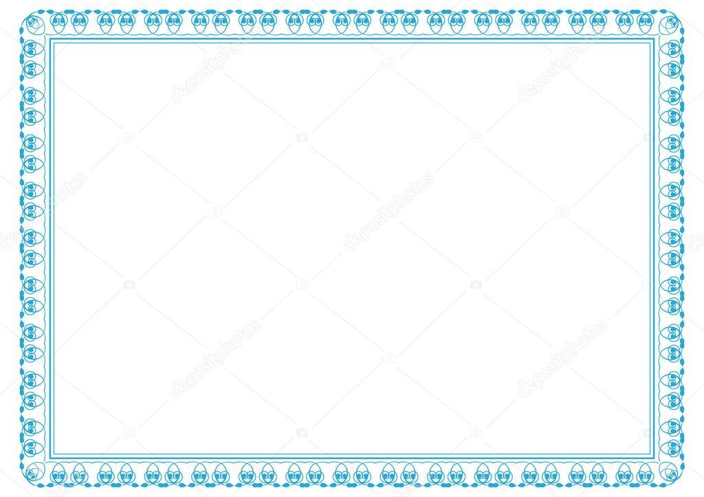 marco de diploma — Vector de stock © justaa #40136979