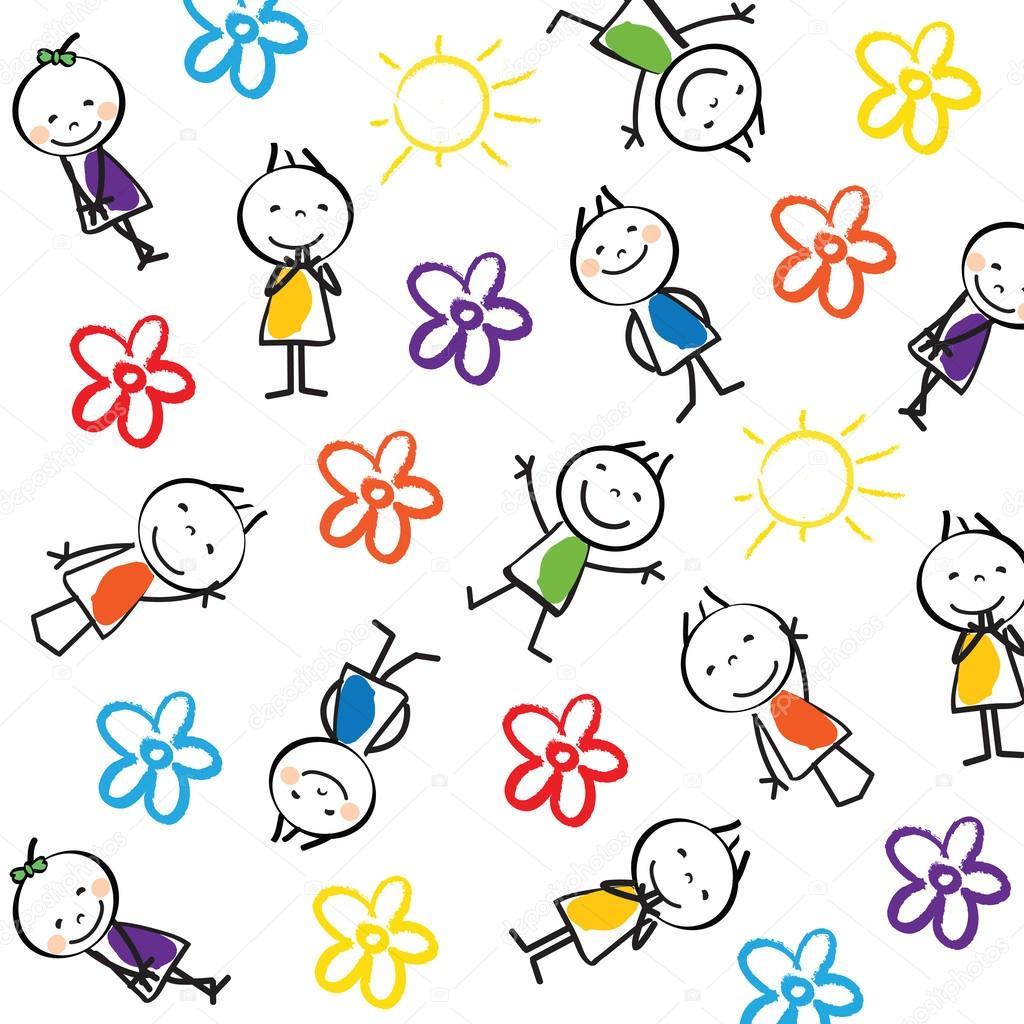 Fondo para ni os vector de stock justaa 42019849 for Carpetas para jardin de infantes