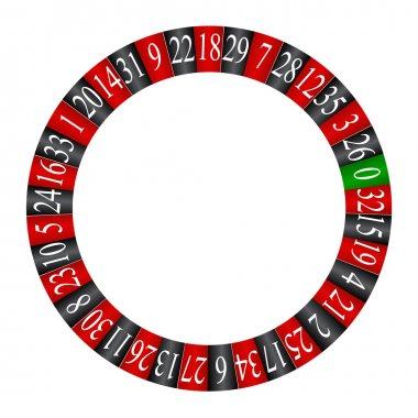 Roulette wheel , vector
