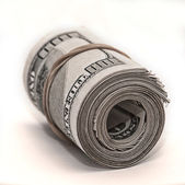 centinaia di banconote arrotolate