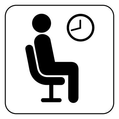 Waiting symbol, vector
