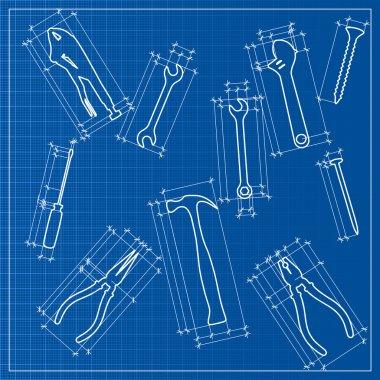 Tools blueprint sketch