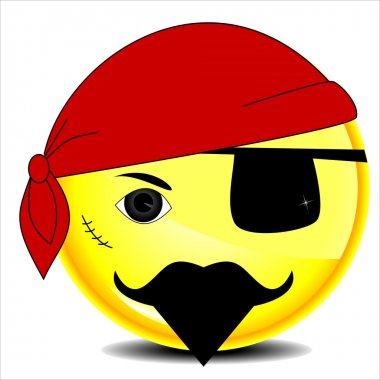 Pirate sea smile character stock vector