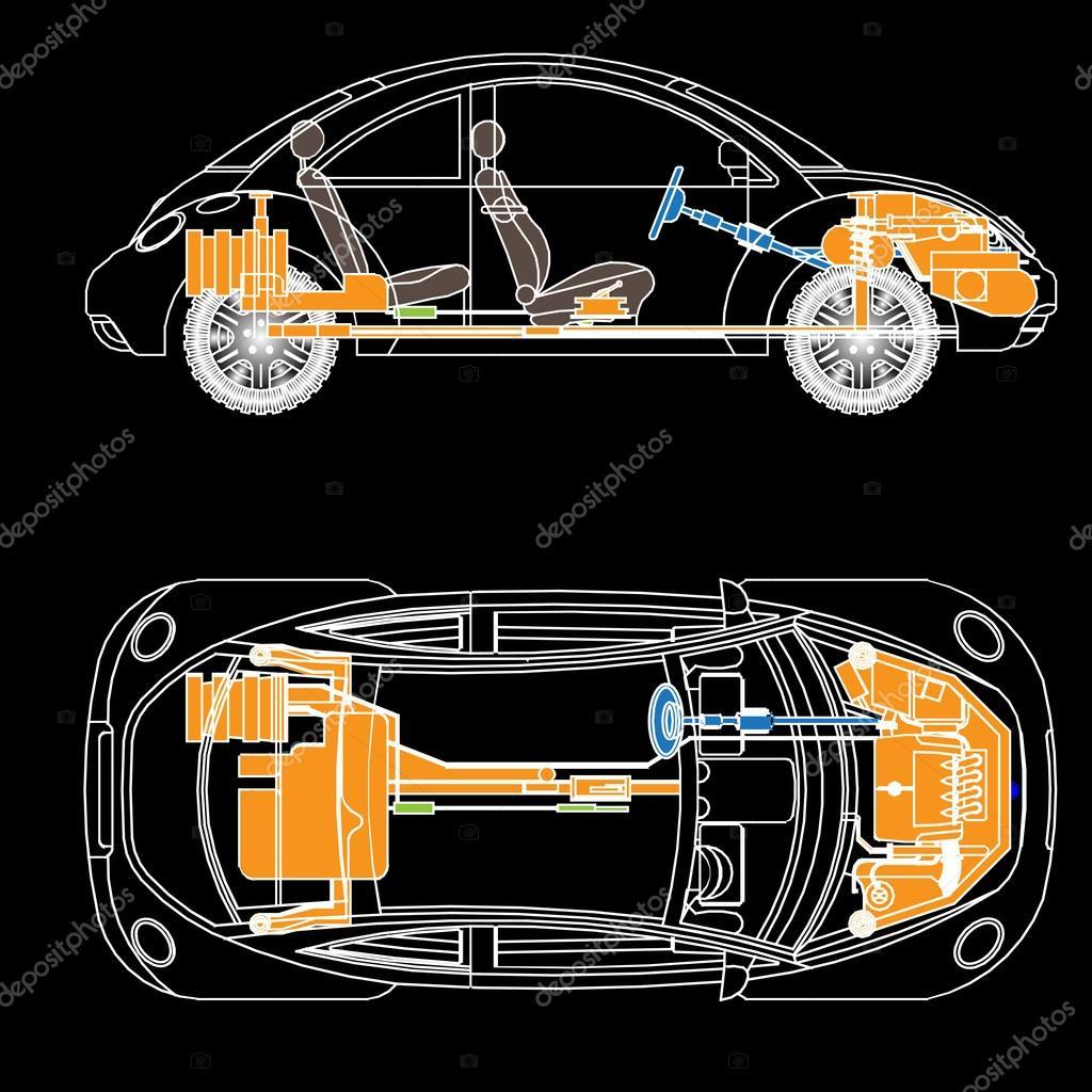 die wichtigsten Teile des Autos — Stockvektor © ngaga35 #32356779