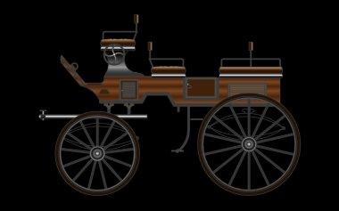 Horse Carriage, vector
