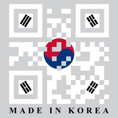 Korean QR code flag