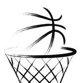 Fotografie basketbal, vektor