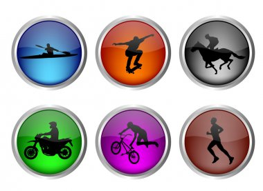 Glossy sport buttons