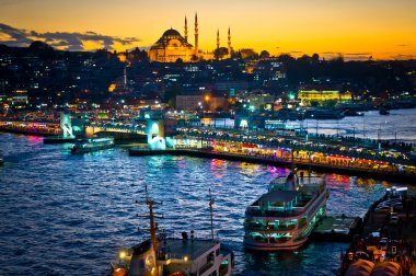 Beautiful view of Istanbul City, Turkey