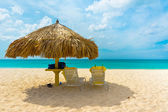 Fotografia bella spiaggia in aruba, Caraibi, piccole Antille