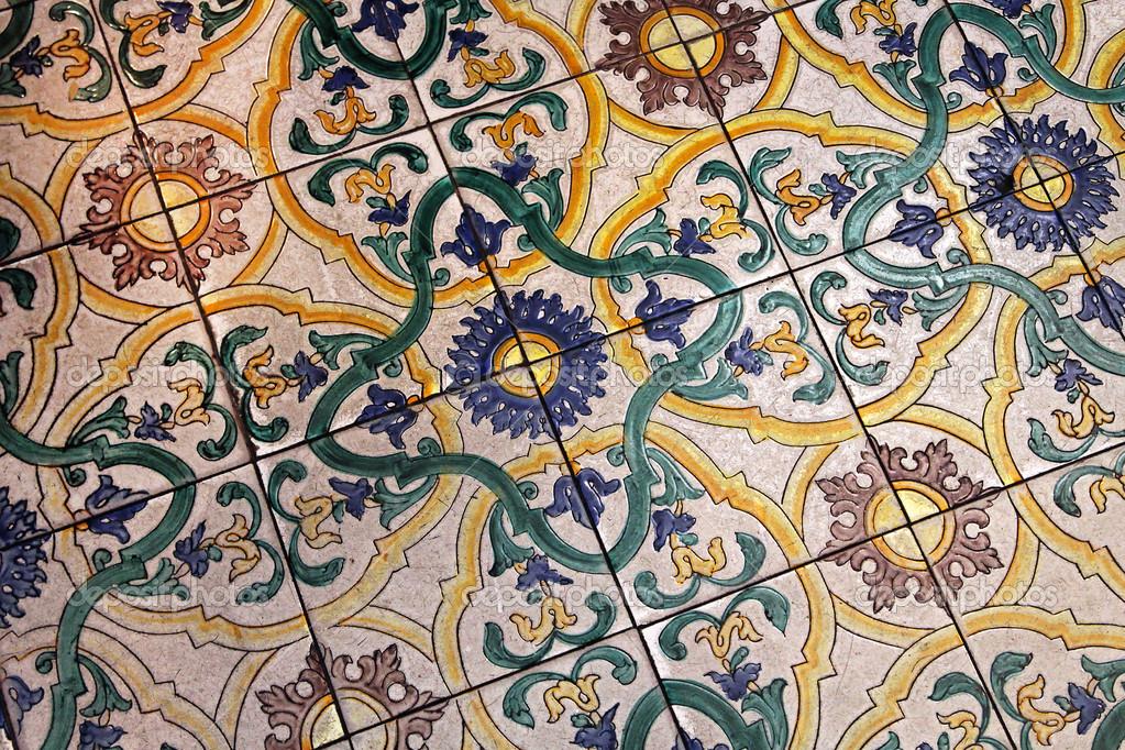 Piastrelle di roma medievale u foto stock baloncici