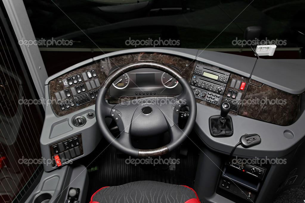 Cabina di guida autobus foto stock baloncici 26642349 for Piani di cabina contemporanei