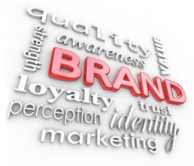 Brand Marketing Words Awareness Loyalty Branding