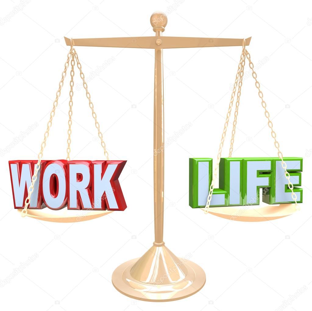Palabras de vida vs en escala de equilibrio de estr s de la vida de trabajo foto de stock - Kaart evenwicht tussen werk en ...