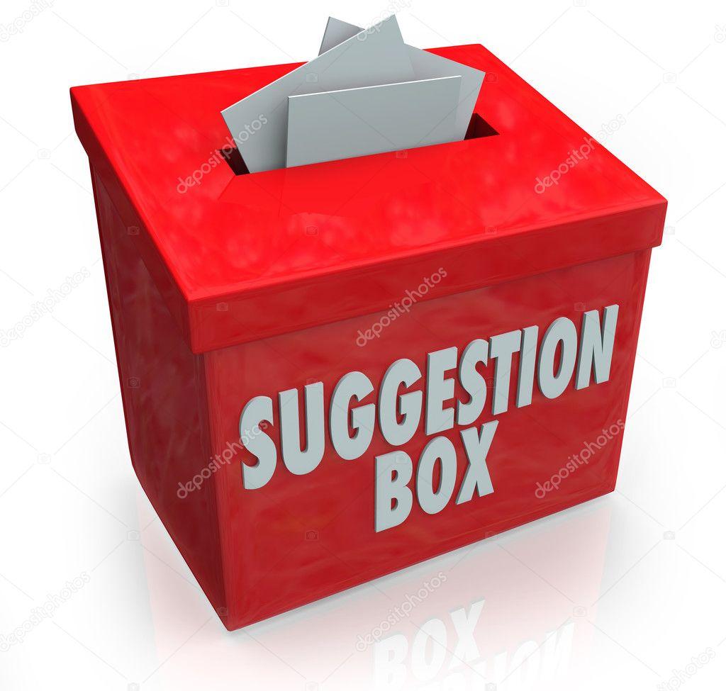 Suggerimento box idee invio commenti — Foto Stock © iqoncept #23375360