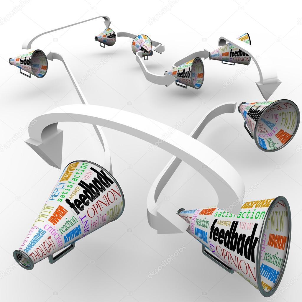 Feedback Bullhorns Megaphonen Verbreiten Meinungen Kommentare Bullhorn Wiring Diagram Stockfoto