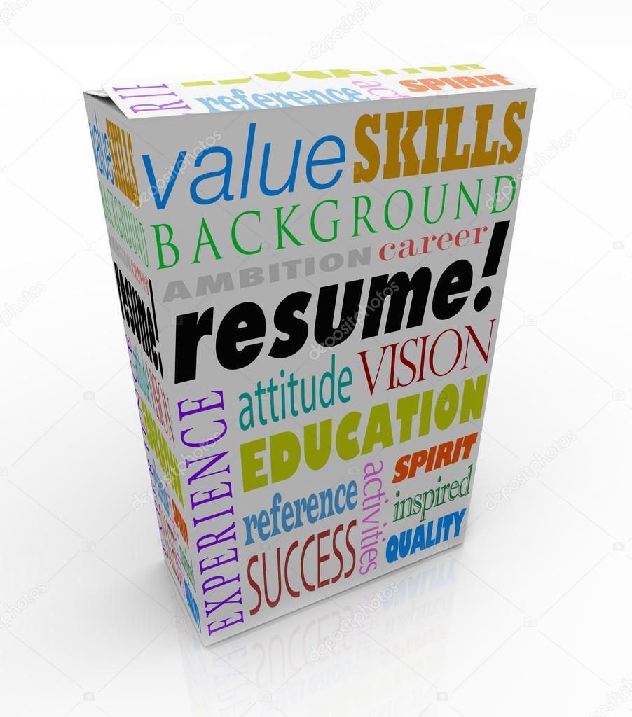 reanudar la palabra producto caja mejor candidato experiencia ...