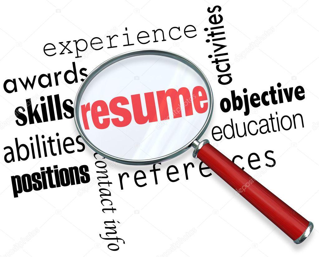 Curriculum Vitae lupa aplicar documento de experiencia de trabajo ...
