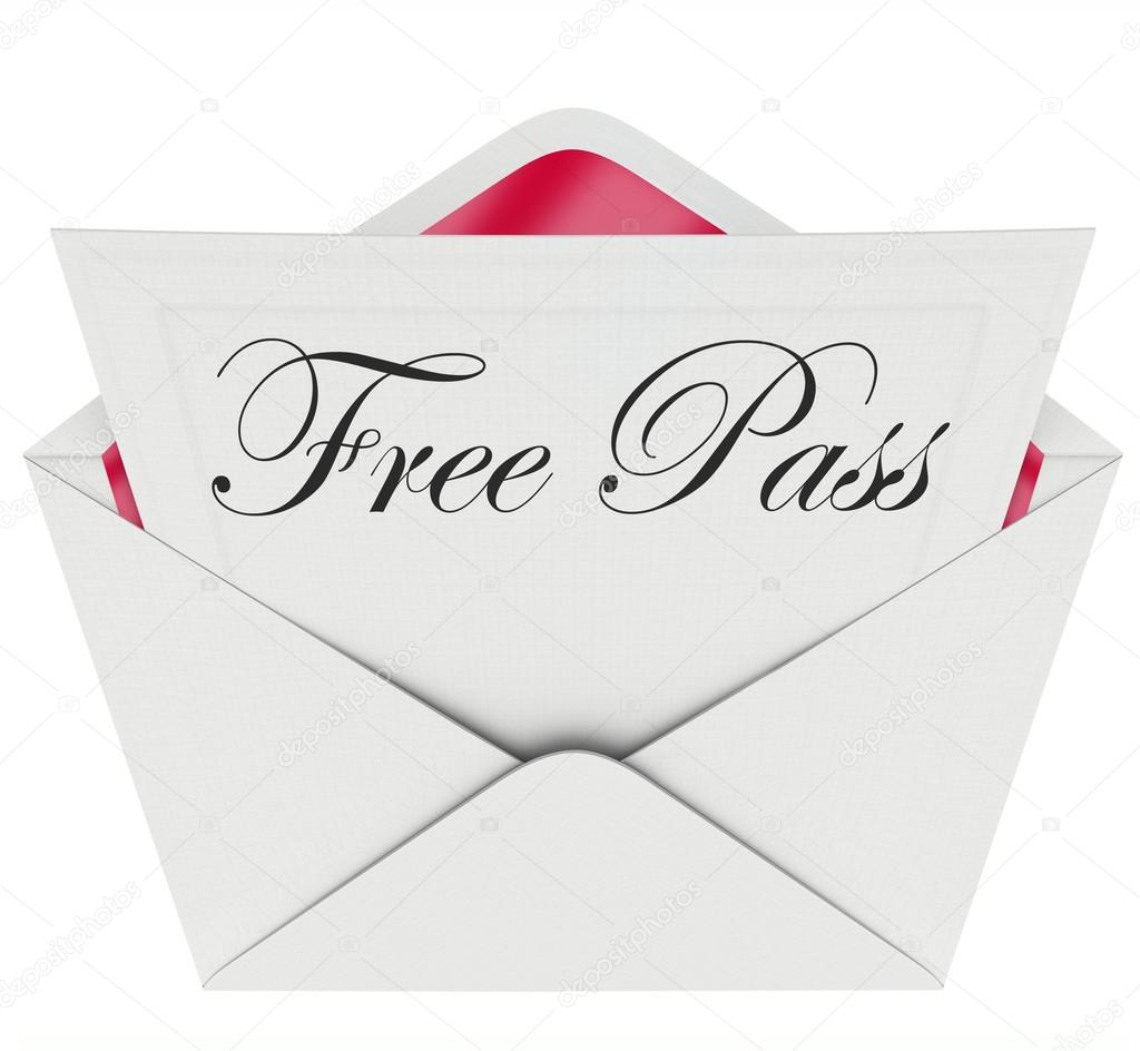 Free Pass Invitation Card Envelope Open Mail Stock Photo
