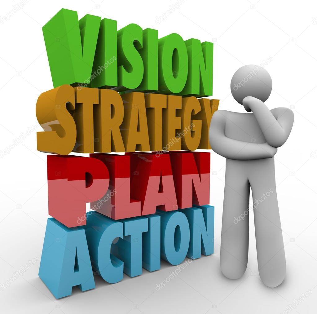 Vision Strategy Plan Action — Stock Photo © iqoncept #46022135