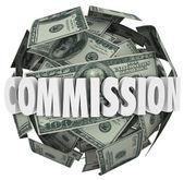 a Bizottság szó egy labdát a száz dollár számlák