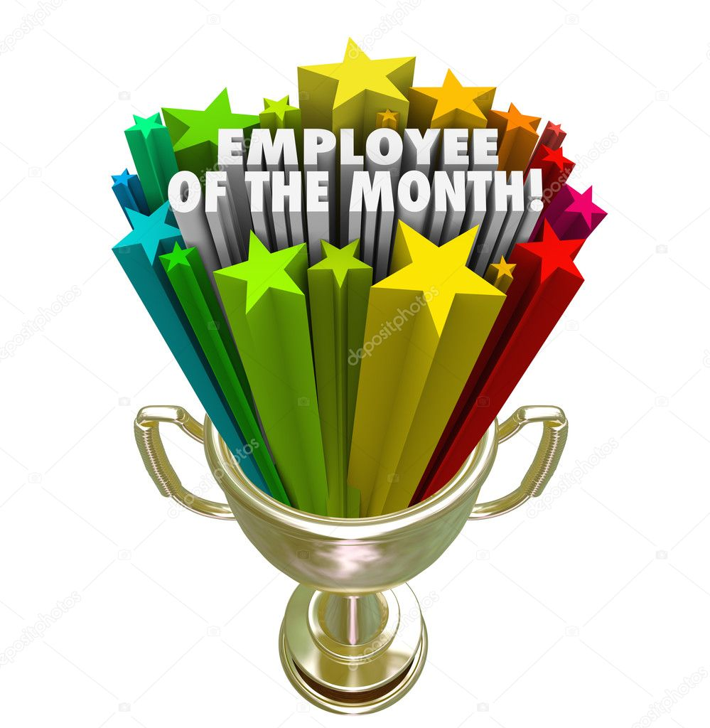 employee of the month gold trophy award top performer recognitio stock photo - Employee Of The Month Award