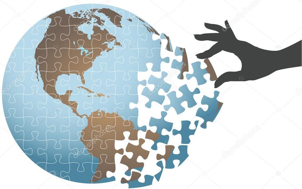 Mano persona encontrar solucin global puzzle vector de stock mano persona encontrar solucin global puzzle vector de stock gumiabroncs Images