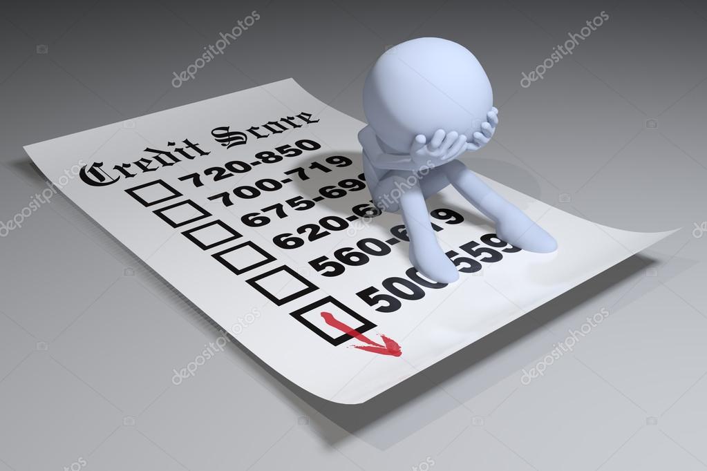 Relatório de pontuação de bureau de crédito ruim pessoa u2014 stock