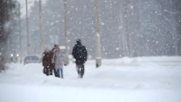 Winter street with