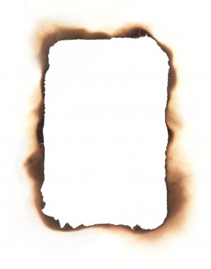Rectangular Burned Edges Frame