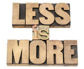 Less is more in wood type