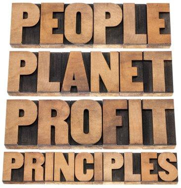 planet, profit, principles